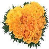 Букет в форме сердца №526 - цветы и букеты на flowers.ck.ua