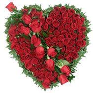 Сердце из цветов №510 - цветы и букеты на flowers.ck.ua