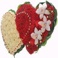 Цветы в форме сердца №500 - цветы и букеты на flowers.ck.ua