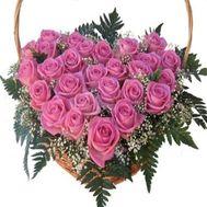 Сердце из цветов 518 - цветы и букеты на flowers.ck.ua