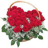 Сердце цветов из роз №520 - цветы и букеты на flowers.ck.ua
