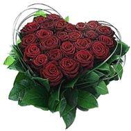 Сердце из цветов №508 - цветы и букеты на flowers.ck.ua