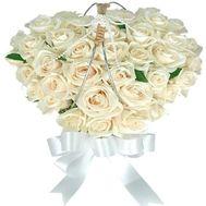 Сердце из цветов №529 - цветы и букеты на flowers.ck.ua