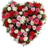 Сердце из цветов №515 - цветы и букеты на flowers.ck.ua