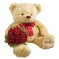 Мишка 2 м. с розами - Я с тобой №1817 - цветы и букеты на flowers.ck.ua