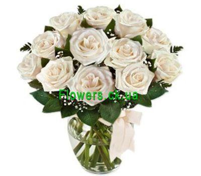 """""""Букет из белых роз №105"""" в интернет-магазине цветов flowers.ck.ua"""