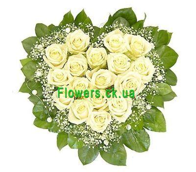 """""""Цветы в форме сердца №511"""" в интернет-магазине цветов flowers.ck.ua"""