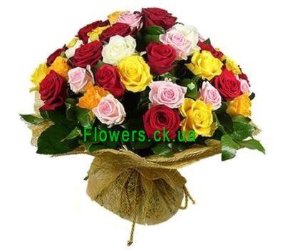 """""""Букет из разноцветных роз №115"""" в интернет-магазине цветов flowers.ck.ua"""