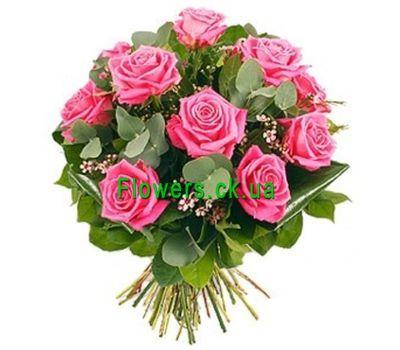 """""""Букет из розовых роз №127"""" в интернет-магазине цветов flowers.ck.ua"""