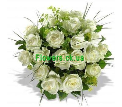 """""""Букет из белых роз №128"""" в интернет-магазине цветов flowers.ck.ua"""