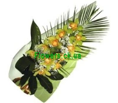 """""""Ветка орхидеи с оформлением №221"""" в интернет-магазине цветов flowers.ck.ua"""